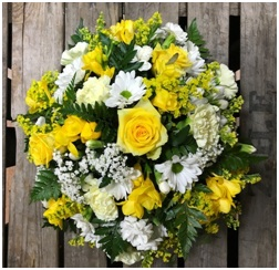 Yellow and White Posy Bowl (Florist Choice)