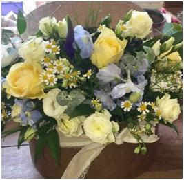 Pastels Hat Box (Florist Choice)