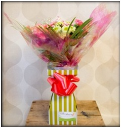 Mixed Hand Tied Box Bouquet