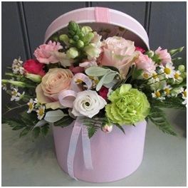 Welcome to the World Hat Box Arrangement (Florist Choice)