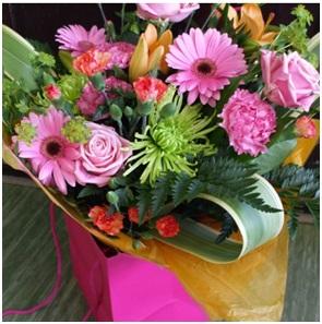 Hot! Hot! Hot! Hand Tied Bouquet (Florist Choice)