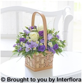 Lilac and White Scented Basket (Florist Choice)