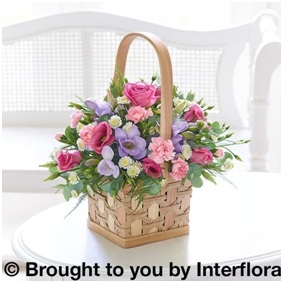 Pink and Lilac Scented Basket (Florist Choice)