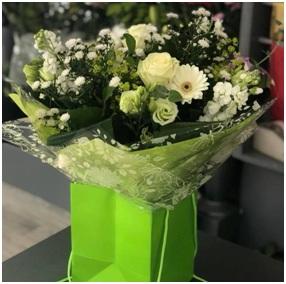 White Mixed Aqua BQ (Florist Choice)