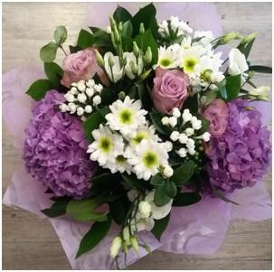 Purple Mixed BQ (Florist Choice)