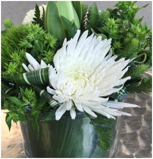 White and Green Mix (Florist Choice)
