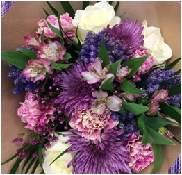 Purple and White Shades (Florist Choice)