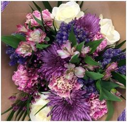 Purple and White Shades (Florist Choice)