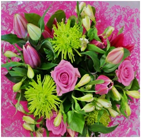 Roses, Lilies and Gyp (Florist Choice)