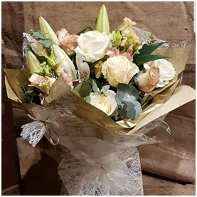 White Rose and Lily Bouquet (Florist Choice)
