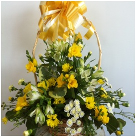 Mixed Seasonal Basket Arrangement (Florist Choice)
