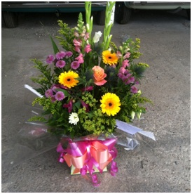 Bright Box Arrangement of Mixed Flowers