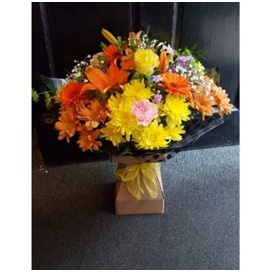 Orange and Yellow Hand Tie (Florist Choice)