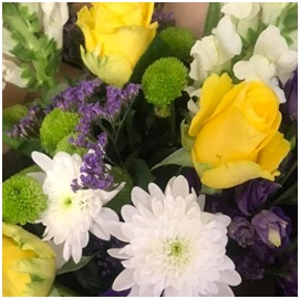 Yellow and White Mixed Bouquet (Florist Choice)