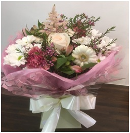 Hand Tied Aqua Box (Florist Choice)