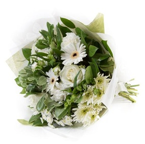 White & Cream Tied Bunch (Florist Choice)