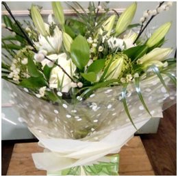 White Aqua Box (Florist Choice)
