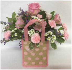 Flowers in a Jute Bag (Florist Choice)