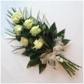 Tied Rose Funeral Sheaf