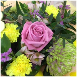 Pink and Yellow Bouquet (Florist Choice)