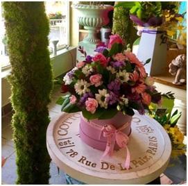 Hat Box Arrangement (Florist Choice)