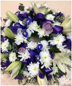 Sympathy Wreath in Pastel Shades ($95 AUD)