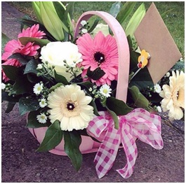 Pink and White Basket Mix (Florist Choice)