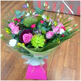 Pink Parade Boxed Hand Tied Bouquet (Florist Choice)