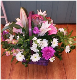 Large Pink and White Basket (Florist Choice)