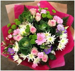 Pink and Green (Florist Choice)