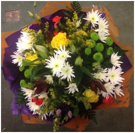 Yellow, Green and White Bouquet (Florist Choice)