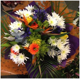 Orange and White Mixed Bouquet (Florist Choice)