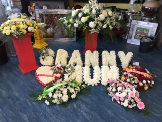 FRESH FUNERAL FLOWERS CALL SHOP FOR PRICE