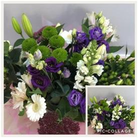 Purple and White Bouquet (Florist Choice
