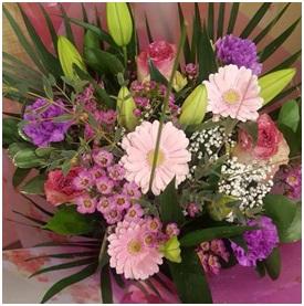 Pinks and Purple Bouquet (Florist Choice)