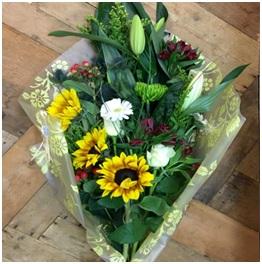 Sunrise Gift Wrapped Bouquet (Florist Choice)