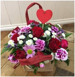Forever Yours Hessian Arrangement (Florist Choice)