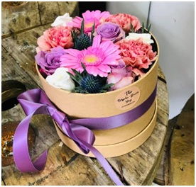 Mixed Hat Box Arrangement (Florist Choice)