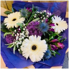 Purple and White Bunch (Florist Choice)
