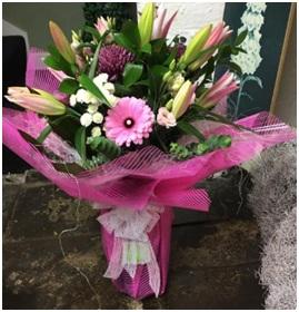 Pink Mixed Hand Tie (Florist Choice)