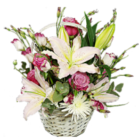 Lily White Basket