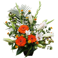 Lily And Gerbera Arrangement