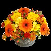 Orange Posy Bowl
